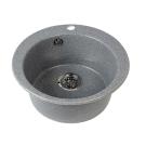 Мойка кухонная Иверия круглая 480 мм серый шелк 1A711032IV250 Акватон