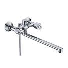 Amper 2902L Смеситель для ванны с длинным поворотным изливом 350 мм хром Wasser Kraft 9060987