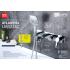 LM3224C Lemark Смеситель для ванны и душа встраиваемый с 3-функциональной лейкой хром