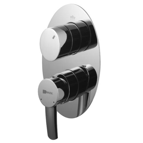 LM3228C Lemark Смеситель для ванны и душа встраиваемый с 3х-функциональным дивертором без аксессуаров