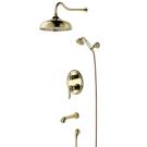 LM4722G Lemark Смеситель для ванны и душа встраиваемый с дополнительной 1-функциональной лейкой золото