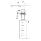 LM8201S Lemark Дозатор для жидких моющих средств врезной сталь