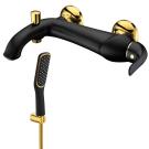 LM5402BG Lemark Смеситель для ванны с коротким изливом черный/золото