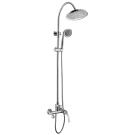LM5762C Lemark Смеситель для ванны с верхней душевой лейкой Тропический дождь фиксированный излив хром