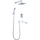 LM5822CW Lemark Смеситель для ванны и душа встраиваемый с дополнительной 1-функциональной лейкой хром/бел