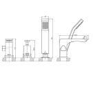LM5845CW Lemark Смеситель для ванны встраиваемый на 3 отверстия с аксессуарами хром/белый