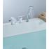 LM5945CW Lemark Смеситель для ванны встраиваемый на 3 отверстия с аксессуарами хром/белый