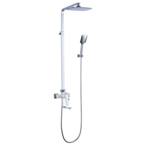 LM5962CW Lemark Смеситель для ванны с верхней душевой лейкой Тропический дождь с поворотным изливом