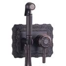 LM6619ORB Lemark Жасмин Смеситель с гигиеническим душем встраиваемый черная бронза