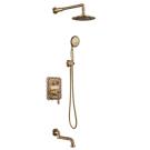 LM6622B Lemark Жасмин Смеситель для ванны и душа встраиваемый с дополнительной 1-функциональной лейкой бронза