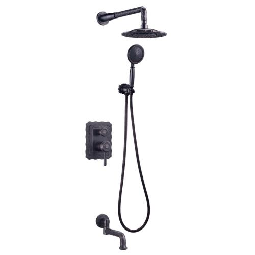 LM6622ORB Lemark Жасмин Смеситель для ванны и душа встраиваемый с доп 1-функциональной лейкой черная бронза