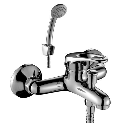 B35-31 Rossinka Смеситель одноручный для ванны с коротким изливом хром