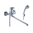 C40-32 Rossinka Смеситель одноручный для ванны с плоским изливом 350 мм хром