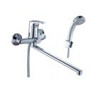D40-32 Rossinka Смеситель одноручный для ванны с плоским изливом 350 мм хром