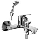 RS29-31 Rossinka Смеситель одноручный для ванны с коротким изливом дивертор с керамическими пластинами хром