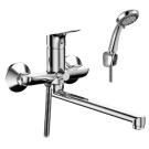 RS29-33 Rossinka Смеситель одноручный для ванны с плоским изливом 350 мм хром