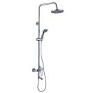 S35-46 Rossinka Смеситель одноручный для ванны с верхней лейкой Тропический дождь хром