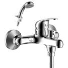 Y35-30 Rossinka Смеситель одноручный для ванны с коротким изливом дивертор с керамическими пластинами хром