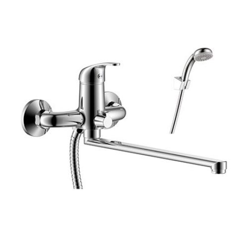 Y35-32 Rossinka Смеситель одноручный для ванны с плоским изливом 350 мм хром