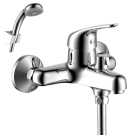 Y40-30 Rossinka Смеситель одноручный  для ванны с коротким изливом дивертор с керамическими пластинами хром
