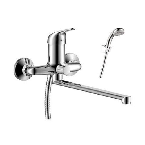 Y40-32 Rossinka Смеситель одноручный  для ванны с плоским изливом 350 мм хром