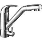 Z40-24 Rossinka Смеситель одноручный для кухни c подключением к фильтру с питьевой водой хром