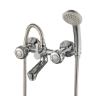 K02-83 Rossinka Смеситель для ванны с коротким изливом с держателем на теле хром K02-83