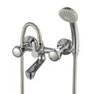 L02-83 Rossinka Смеситель для ванны с коротким изливом с держателем на теле хром L02-83