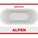 BERGAMO 169х70 Ванна из литого мрамора ALPEN в комплекте с сифоном