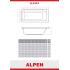 Alpen ALASKA 150х70 Ванна акриловая