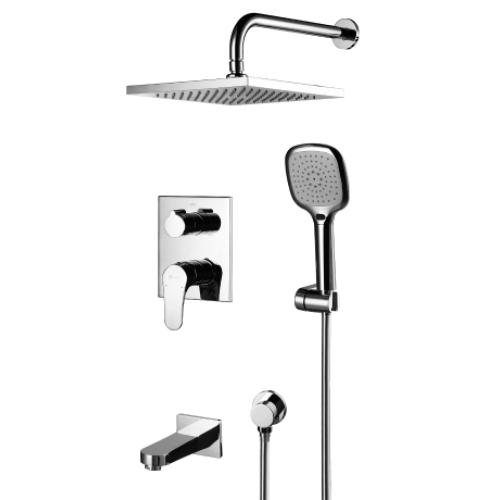 Смеситель встраиваемый Lemark Shift LM4322C для ванны (набор)