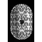 SIMAS FLOW раковина 51 5х31 5см белая (декор - REINASSANCE)