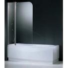 NOVELLINI Шторка на ванну AURORA 3 98х150 (профиль хром, стекло прозрачное)