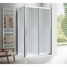 NOVELLINI Душевая дверь LUNES 2P 126 профиль хром. стекло clear