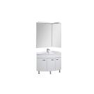 Набор мебели угловой для ванной Aquanet Корнер 89 R белый (закрытый)