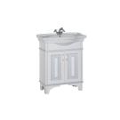 Тумба с раковиной Aquanet Валенса 80 белый краколет/серебро