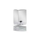 Набор мебели угловой для ванной Aquanet Корнер 89 L белый (открытый)