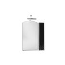 Зеркальный шкаф Aquanet Асти 65 черный (шкаф/полка)
