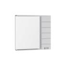 Зеркальный шкаф Aquanet Доминика 90 L LED белый