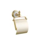 Держатель для туалетной бумаги с крышкой PALAZZO Золото и керамика Boheme 10101
