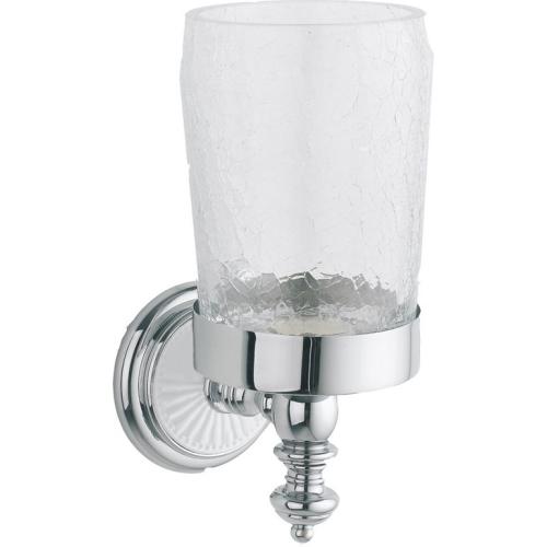 Стакан для зубных щеток VOGUE Хром и керамика Boheme 10134