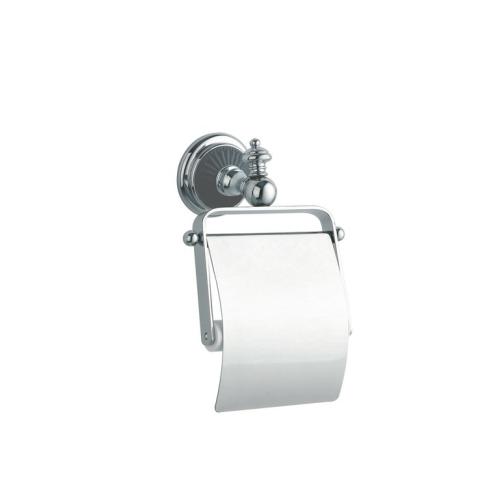 Держатель для туалетной бумаги с крышкой VOGUE Хром и керамика Boheme 10181