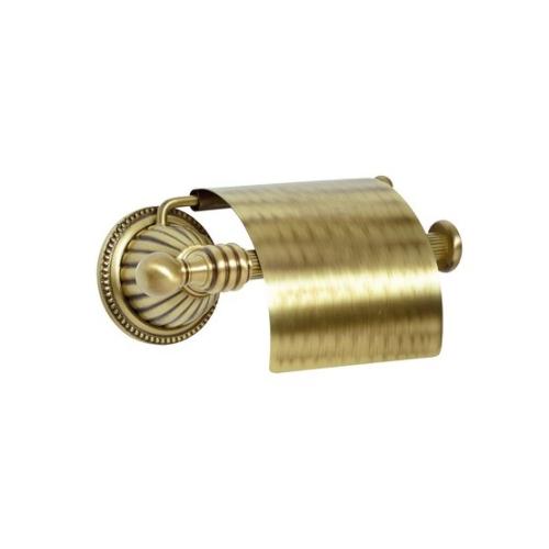 Держатель для туалетной бумаги с крышкой Hermitage Boheme 10320 бронза