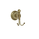 Крючок двойной Hermitage Boheme 10325 бронза