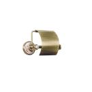 Boheme 10801 Держатель для туалетной бумаги с крышкой PROVANSE бронза / керамика