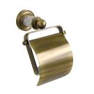 Держатель для туалетной бумаги с крышкой Murano бронза Boheme 10901