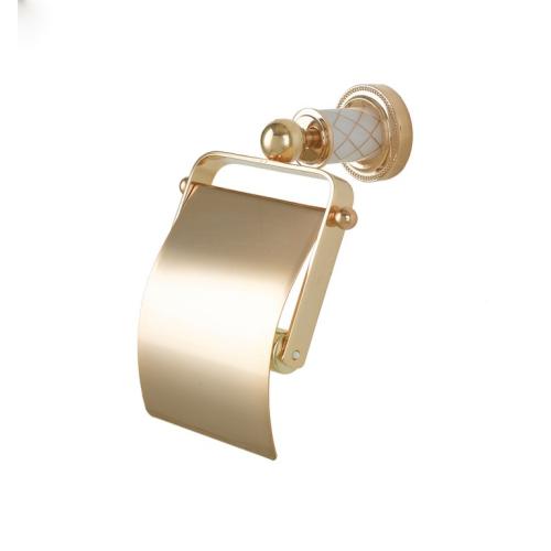 Держатель для туалетной бумаги с крышкой Murano золото Boheme 10901