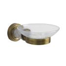Мыльница (стекло кракле) Murano бронза Boheme 10903
