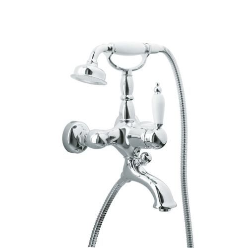 Смеситель для ванны (душевой комплект) Tradizionale Chromo Хром и Керамика однорычажный Boheme 263