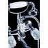 Смеситель для ванны (душевой комплект) CRYSTAL Хром двуручковый Boheme 273-CRST